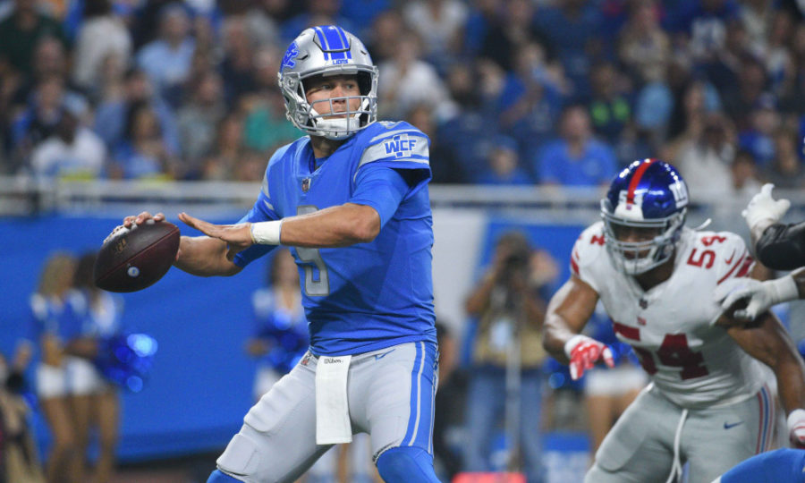 Lions, DraftKings Week 1, NFL Week 1 2020