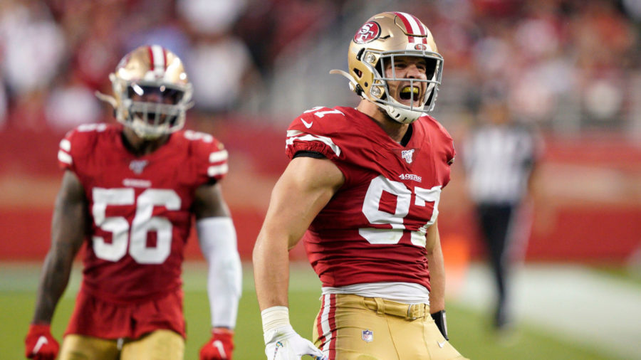 Nick Bosa, Defensive Rookie of the Year 2019, NFC Championship game 49ers Packers, Super Bowl LIV